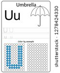 worksheet. writing a z ... | Shutterstock .eps vector #1278424330