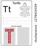 worksheet. writing a z ... | Shutterstock .eps vector #1278424339