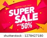 vector illustration super sale... | Shutterstock .eps vector #1278427180