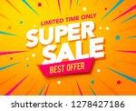 vector illustration super sale... | Shutterstock .eps vector #1278427186