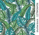tropical palm leaves seamless... | Shutterstock .eps vector #1278436456