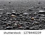 Closeup Of Large Black Volcani...