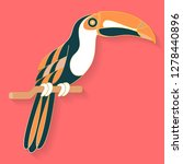 toucan label design. abstract... | Shutterstock .eps vector #1278440896