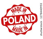 made in poland sign or stamp on ... | Shutterstock .eps vector #1278440953