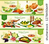 italian pasta dishes with meat  ... | Shutterstock .eps vector #1278450649
