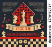chess board game sport club... | Shutterstock .eps vector #1278452719