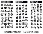 vector black business  money... | Shutterstock .eps vector #127845608
