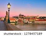 charles bridge in the morning... | Shutterstock . vector #1278457189