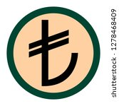 isolated turkish lira symbol in ...   Shutterstock .eps vector #1278468409