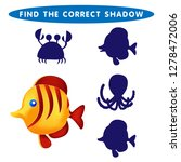 fish find the correct shadow...   Shutterstock .eps vector #1278472006