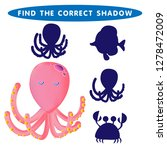 octopus  find the correct...   Shutterstock .eps vector #1278472009