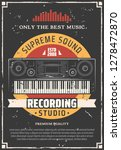 sound and music recording... | Shutterstock .eps vector #1278472870