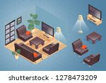 fragment of the interior with... | Shutterstock .eps vector #1278473209