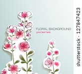 cute floral background | Shutterstock .eps vector #127847423