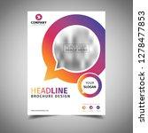 cool business brochure | Shutterstock .eps vector #1278477853