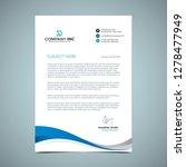 blue curve letterhead design  | Shutterstock .eps vector #1278477949