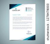 blue letterhead design | Shutterstock .eps vector #1278478003