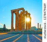 temple of zeus in athens at...   Shutterstock . vector #1278479689