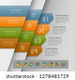 set of infographics elements.... | Shutterstock .eps vector #1278481729