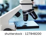 objective and the object table...   Shutterstock . vector #127848200