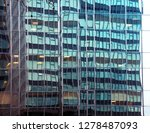 reflection of buildings.... | Shutterstock . vector #1278487093