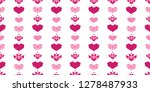 pink white geometric hearts...   Shutterstock .eps vector #1278487933