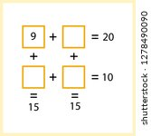 worksheet. mathematical puzzle...   Shutterstock .eps vector #1278490090