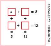 worksheet. mathematical puzzle...   Shutterstock .eps vector #1278490093