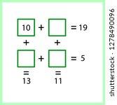 worksheet. mathematical puzzle...   Shutterstock .eps vector #1278490096
