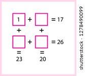 worksheet. mathematical puzzle...   Shutterstock .eps vector #1278490099