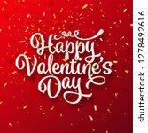 valentines day love lettering... | Shutterstock .eps vector #1278492616