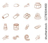 bakery products  cutlery ... | Shutterstock .eps vector #1278504400