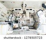 abandoned rusty tank interior.  | Shutterstock . vector #1278505723