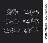 decorative calligraphic... | Shutterstock .eps vector #1278506329