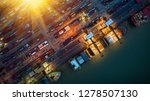 logistics and transportation of ... | Shutterstock . vector #1278507130