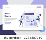 landing page template of write...   Shutterstock .eps vector #1278507760