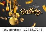 happy birthday typography... | Shutterstock .eps vector #1278517243