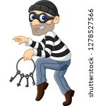 cartoon thief carrying a bunch... | Shutterstock .eps vector #1278527566