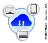 virtual cloud icon.  loud... | Shutterstock .eps vector #1278528556