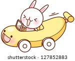 a vector illustration of banana ... | Shutterstock .eps vector #127852883