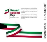 kuwait national day vector... | Shutterstock .eps vector #1278530209