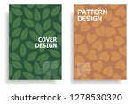 modern cover design with leaf... | Shutterstock .eps vector #1278530320