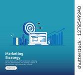 business marketing strategy... | Shutterstock .eps vector #1278549340