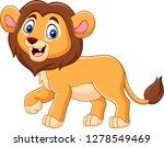 cute baby lion cartoon | Shutterstock . vector #1278549469