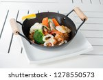 spicy fried rice with seafood | Shutterstock . vector #1278550573