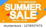 summer sale  poster design... | Shutterstock .eps vector #1278557473