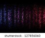 Abstract Purple Dots On Dark...