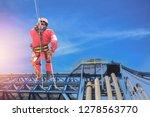 safety sprinkling worker on... | Shutterstock . vector #1278563770