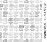 flower background. seamless... | Shutterstock .eps vector #1278579910