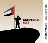 martyr's day illustration... | Shutterstock .eps vector #1278595483